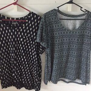 Bundle okay print drop shoulder t shirts